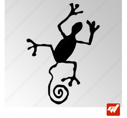 Sticker Salamandre Tribal