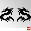 2 Stickers Dragon Tribal 8
