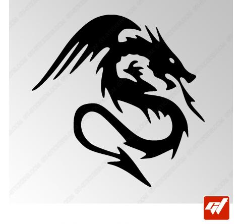 Sticker Dragon Tribal 9