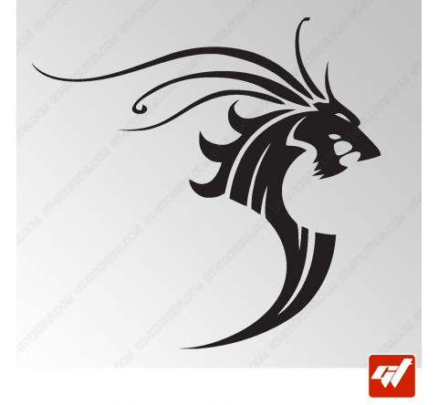 Sticker Dragon Tribal 11