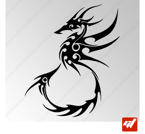 Sticker Dragon Tribal 13