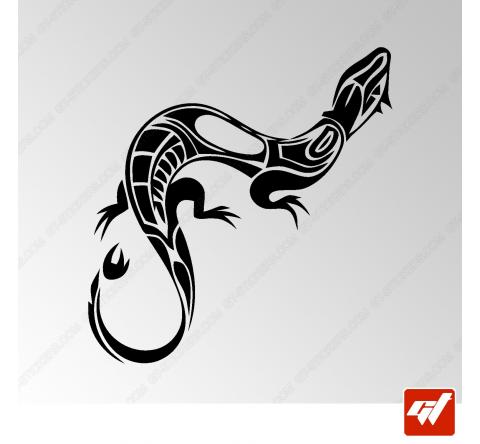 Sticker Salamandre Tribal 2