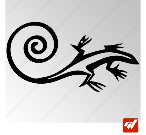 Sticker Salamandre Tribal 6