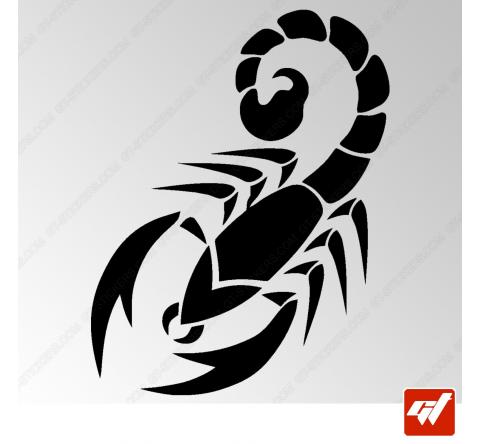 Sticker Scorpion Tribal