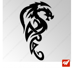 Sticker Dragon Tribal 17