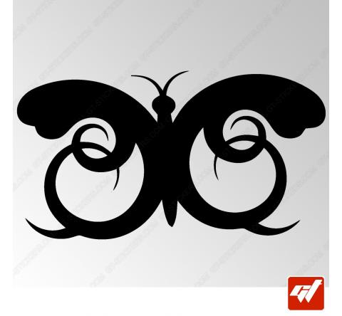 Sticker Papillon Tribal 2