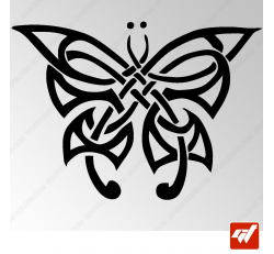 Sticker Papillon Tribal 3