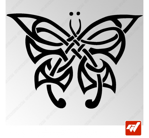 Sticker Papillon Tribal 3