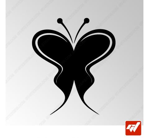Sticker Papillon Tribal 4