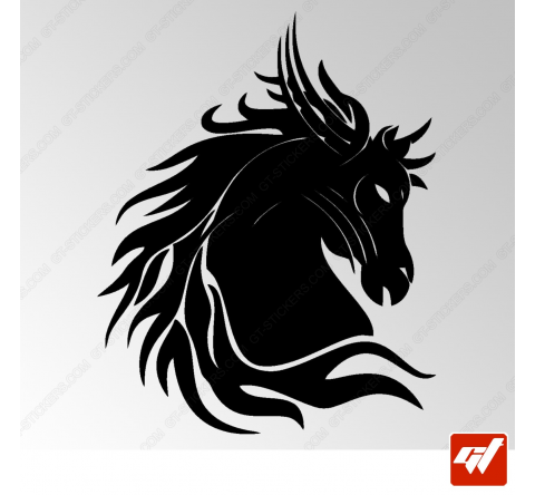 Sticker Cheval Tribal 5