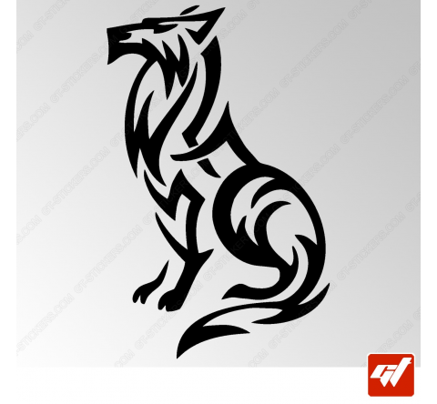 Sticker Loup Tribal
