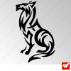 Sticker Loup Tribal