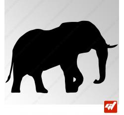 Sticker Elephant Tribal