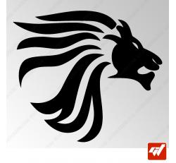 Sticker Lion Tribal