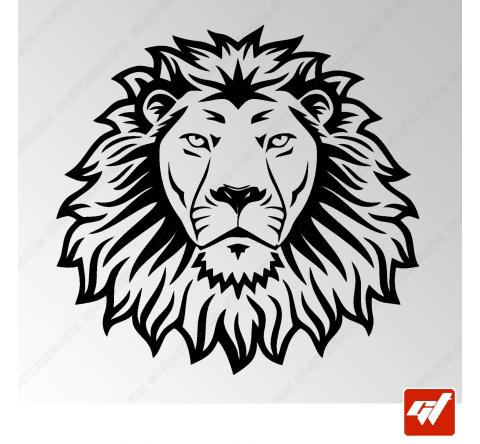 Sticker Lion Tribal 2