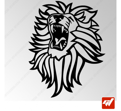 Sticker Lion Tribal 3