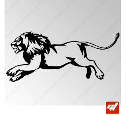 Sticker Lion Tribal 4