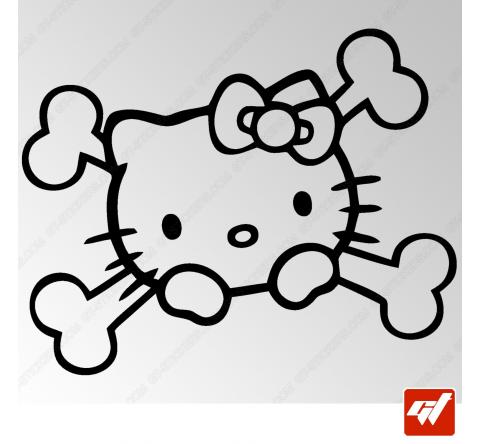 Sticker Crane Hello Kitty Pirate Tribal 4