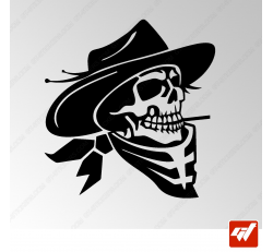 Sticker Crane cowboy Tribal 6