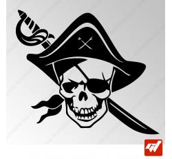 Sticker Crane Pirate Tribal 10