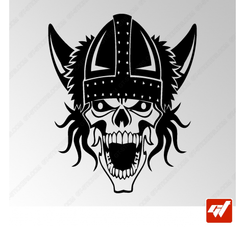Sticker Crane Viking Tribal 11