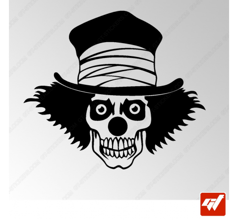 Sticker Crane Clown Tribal 16
