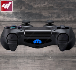 4X Stickers PS4 LIGHT BAR - Space Invaders soucoupe volante ovni ufo