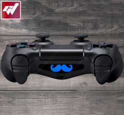 4X Stickers PS4 LIGHT BAR - grosse moustache