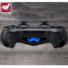 4X Stickers PS4 LIGHT BAR - grosse moustache
