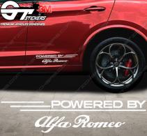 Kit 2x Stickers Powered by Alfa Roméo 340 mm