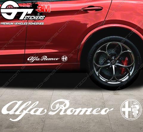 Stickers Alfa roméo, taille au choix.