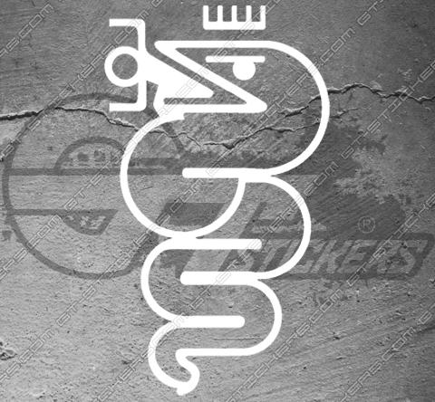 Stickers Alfa Roméo Biscione Vintage