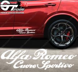 Stickers Alfa Roméo Cuore Sportivo, taille au choix