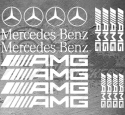 Planche de 18 stickers Mercedes-benz / AMG