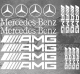 Planche 18x Stickers Mercedes-Benz / AMG