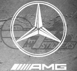 Stickers Logo Etoile Mercedes AMG