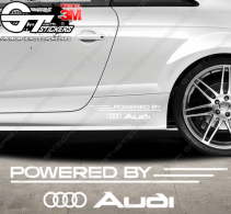 Kit Stickers Powered by Audi 340 mm