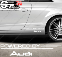 Kit Stickers Powered by Audi 340 mm (style 2)