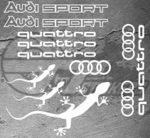 Planche de 12 Stickers Audi Quattro