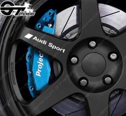 4x Stickers Audi Sport pour Jantes