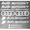 Planche de 10 Stickers Audi Sport