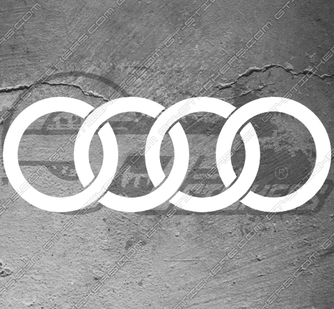 2 Stickers Audi Sport de 500 mm