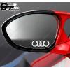 3x Stickers Sigle Audi pour rétroviseurs