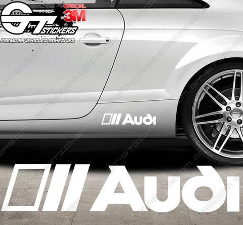 Planche de 18 Stickers Audi
