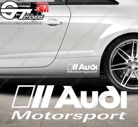 4 Stickers Audi Quattro 100 mm / 200 mm