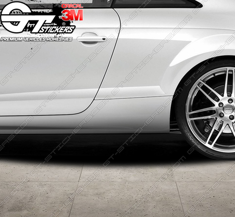 4 Stickers Audi TT RS 100 mm / 200 mm