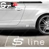 Sticker Audi S line, taille au choix