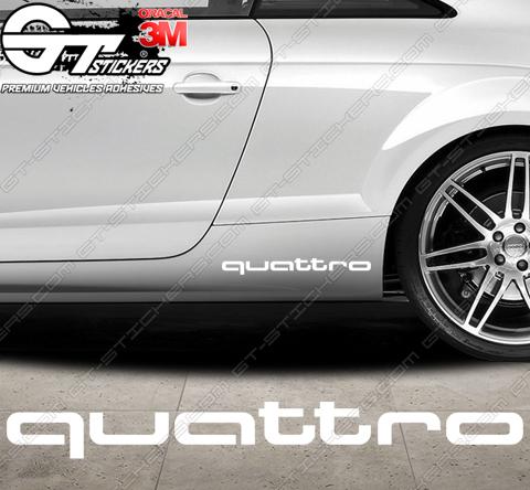 1x Sticker Audi quattro, taille au choix.