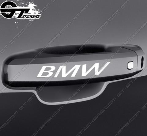 Kit 2x stickers BMW pour poignées de porte
