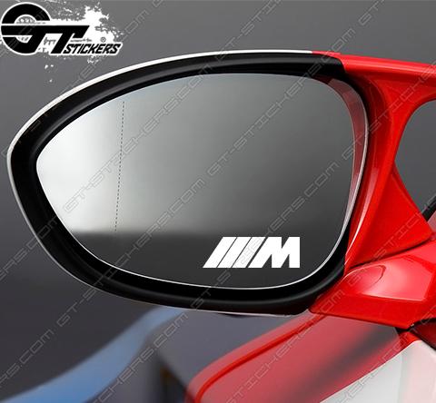 3 Stickers BMW M pour rétroviseurs